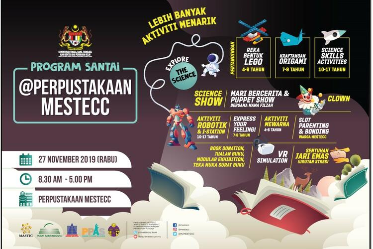 "PROGRAM SANTAI@PERPUSTAKAAN MESTECC ""Explore The Science!"" 2019"